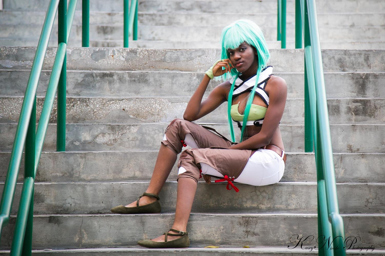 Chante Knight dresses up as Emerald from the animated Rooster Teeth series: RWBY at the Holiday Matsuri anime convention in Florida. Knight, graduate student in FAA, uses her experience with cosplay and sewing in her studies as a costume technology student.