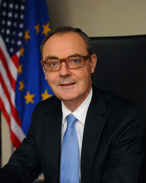 Portrait of David O'Sullivan, European Union Ambassador to the United States.