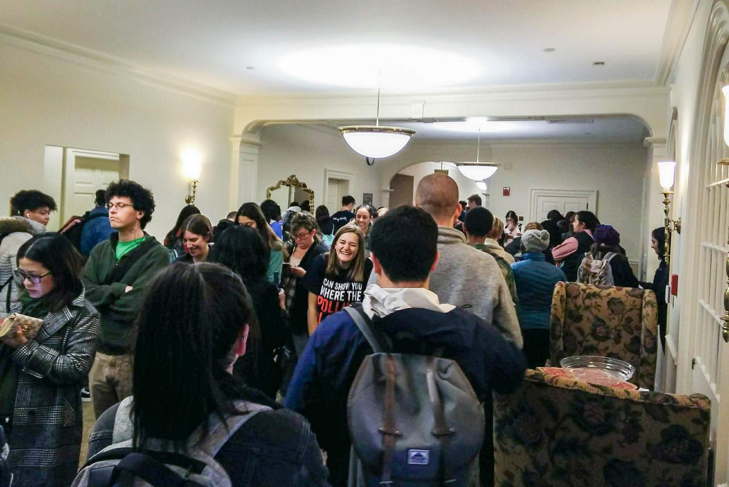 Over 200 students at one time packed the fourth floor of the Illini Union to vote in the midterm elections on Nov. 5, 2018.