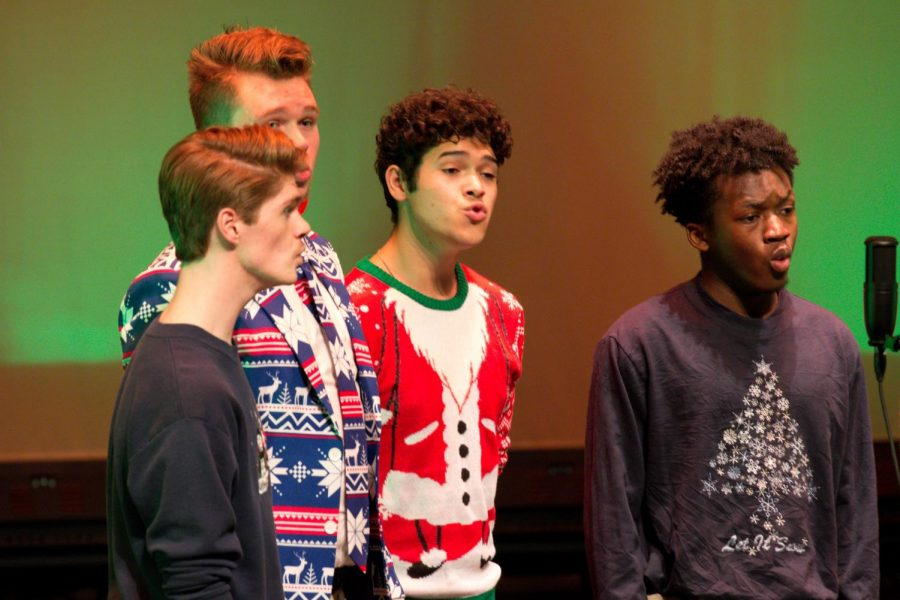 The Other Guys a capella group performs at its holiday concert earlier in the month at the Lincoln Hall Theater.