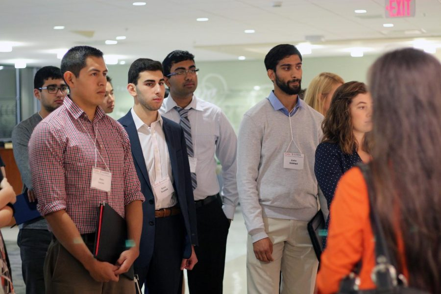 Carle Illinois College of Medicine recruits tour the hospital facilities during the showcasing event on Oct. 21, 2017.