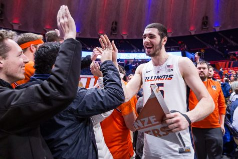 Illini block, usually a weapon, falls short against Purdue