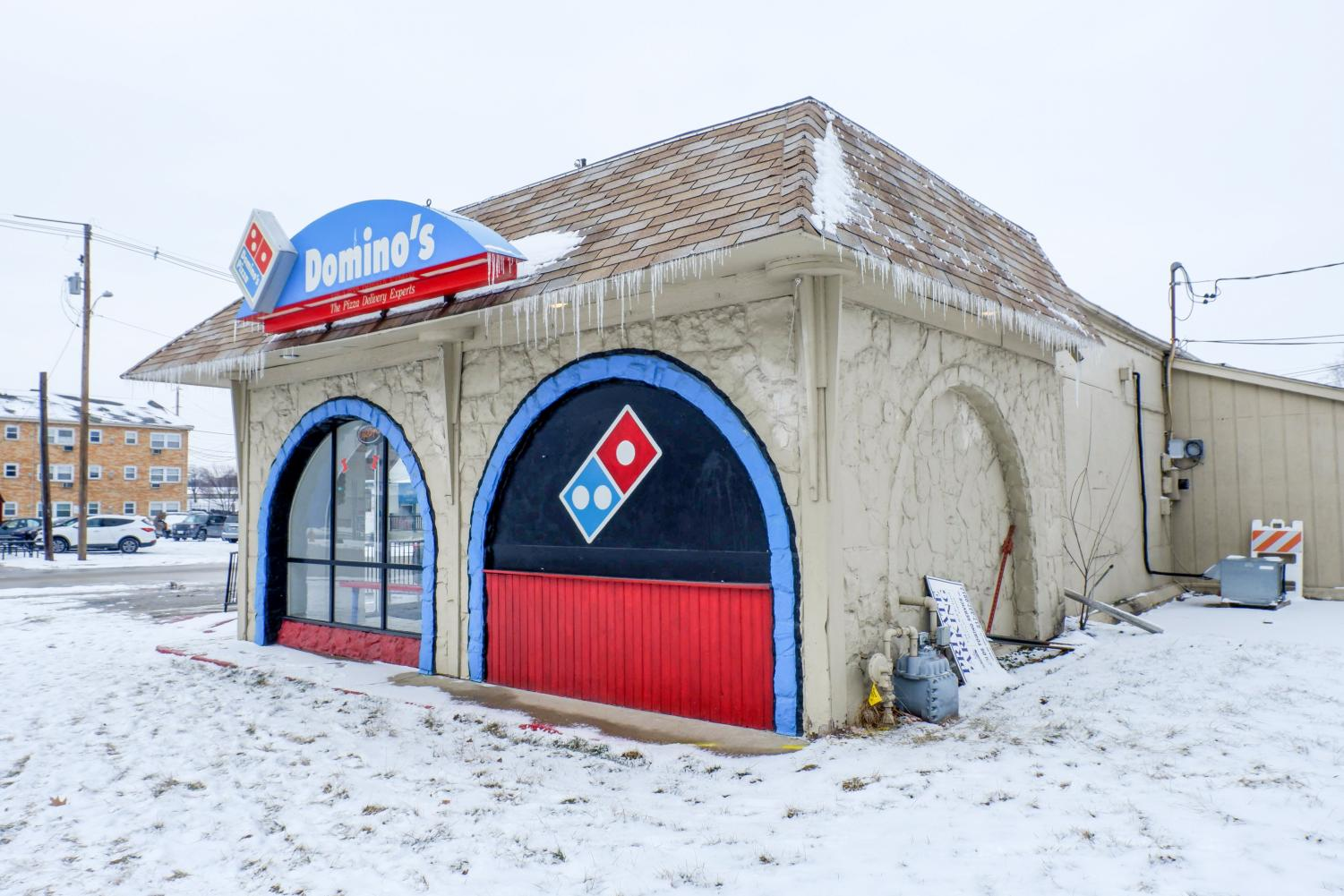 Domino's Pizza located on the corner of First and Green. Due to increases in delivery robbery, the Champaign Police Department is reminding delivery drivers and the public to be cautious of any suspicious activity.