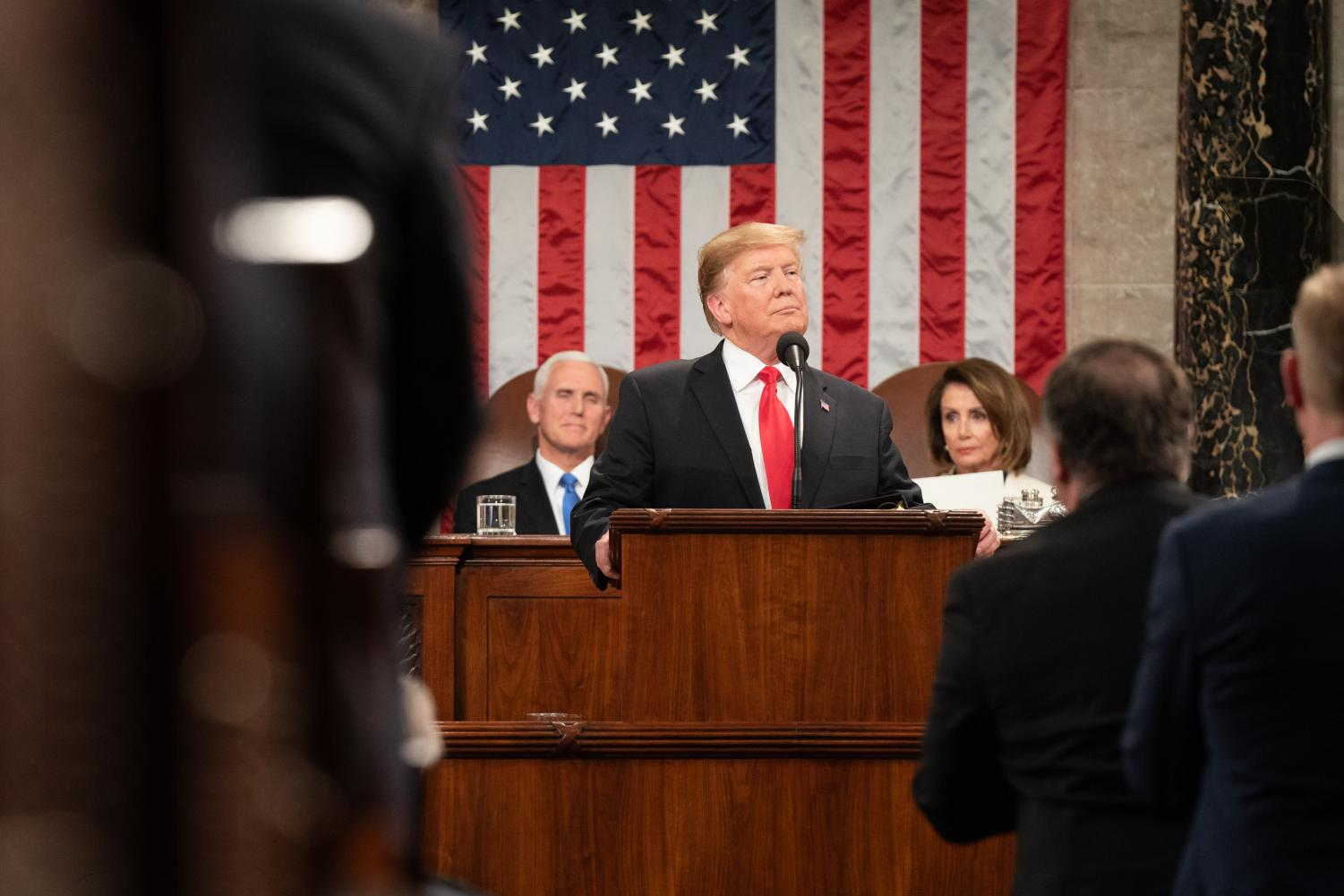 President Donald J. Trump delivers his State of the Union address at the U.S. Capitol, Tuesday, Feb. 5, 2019, in Washington, D.C.