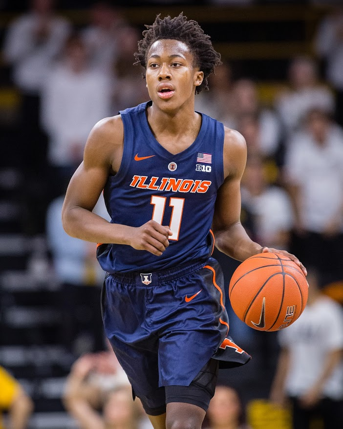 Illinois+guard+Ayo+Dosunmu+%2811%29+brings+the+ball+up+the+court+during+the+game+against+Iowa+at+Carver+Hawkeye+Arena+on+Sunday%2C+Jan.+20%2C+2019.+The+Illini+lost+95-71.