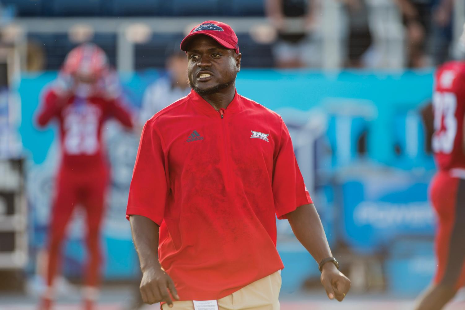 Keynodo Hudson worked under Lane Kiffin at both the University of Southern California and Florida Atlantic University. In 2017, he helped the Owls finish 11-3.