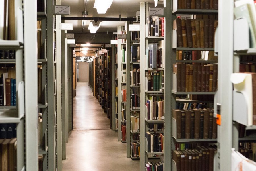 The+Main+Library%27s+main+stacks+has+ten+levels+of+books+and+resources+available+to+students.