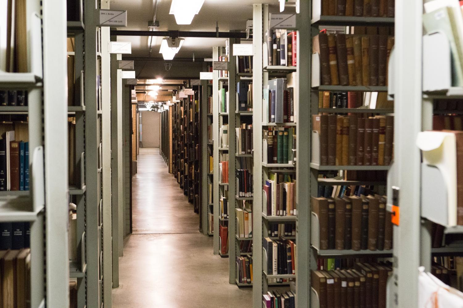 The Main Library's main stacks has ten levels of books and resources available to students.