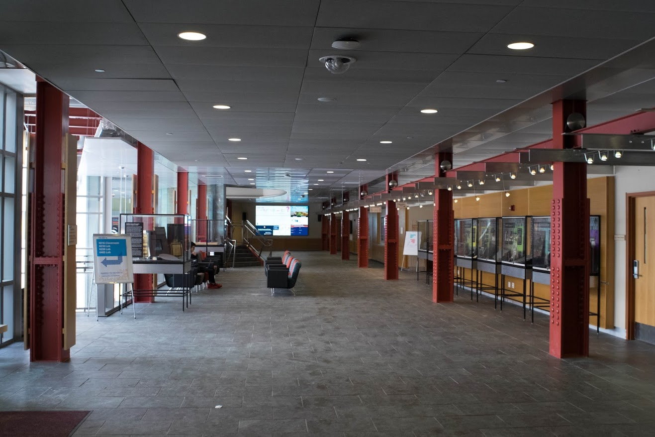 The interior of the Siebel Center for Computer Science in Urbana, Feb. 2.