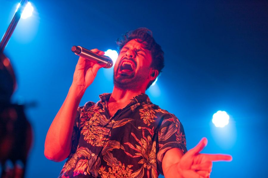 Sameer Gadhia, lead vocalist of Young the Giant, performs at The Canopy Club on Feb. 20