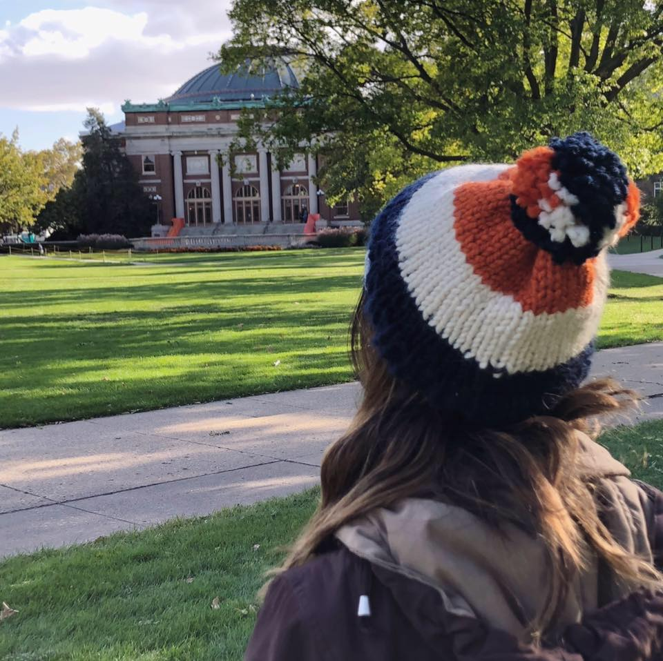 Kayla Ruiz has started her own business knitting homemade winter accessories.