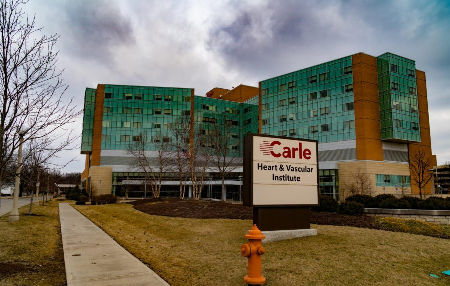 Carle Foundation Hospital on March 2, 2019. Carle has made new screening tools available for patients concerned about coronavirus.