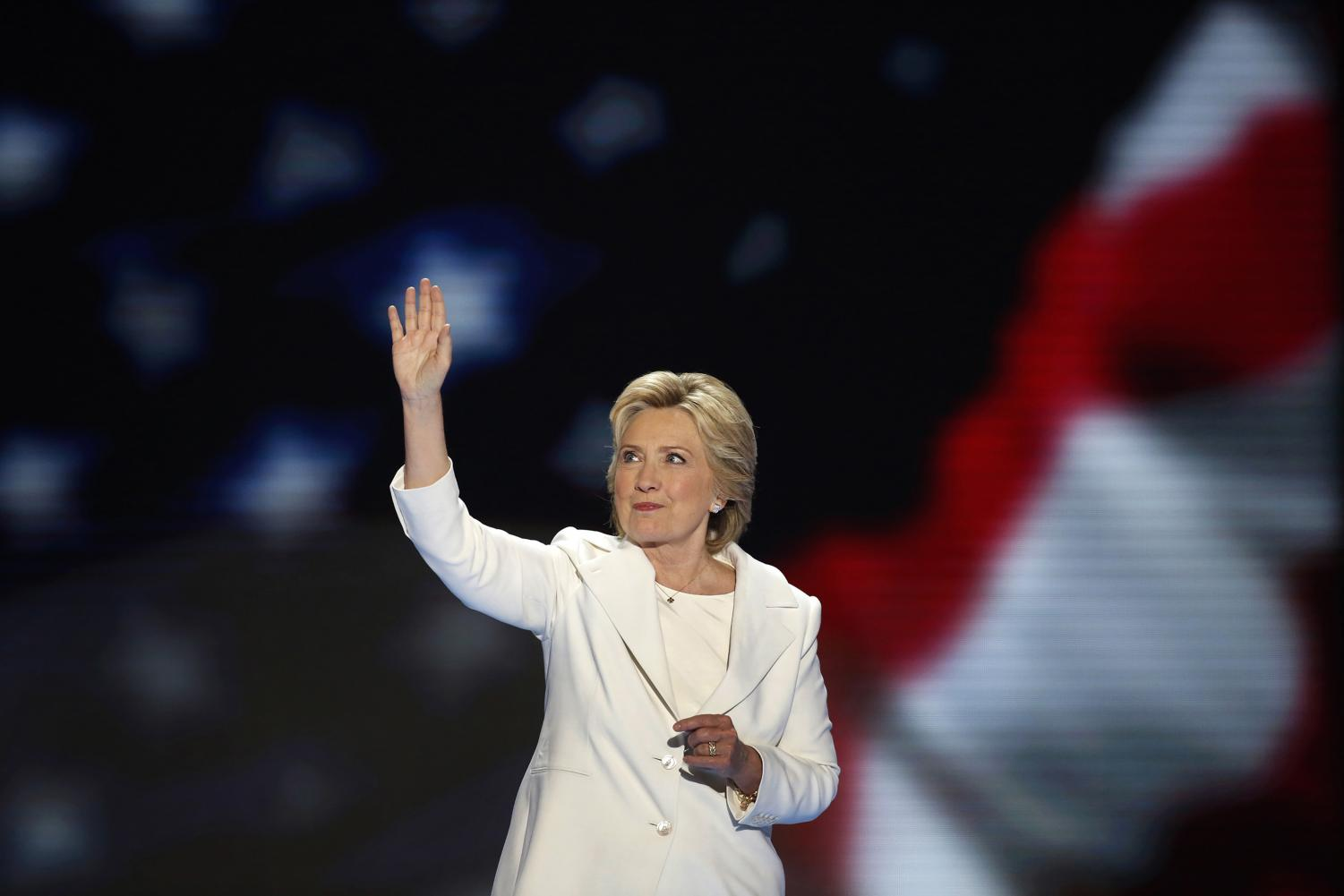 Hillary Clinton becomes the first woman to win the nomination for president from a major party in the United States on July 28, 2016. Columnist Noah emphasizes her absence in the public eye since November 2016.