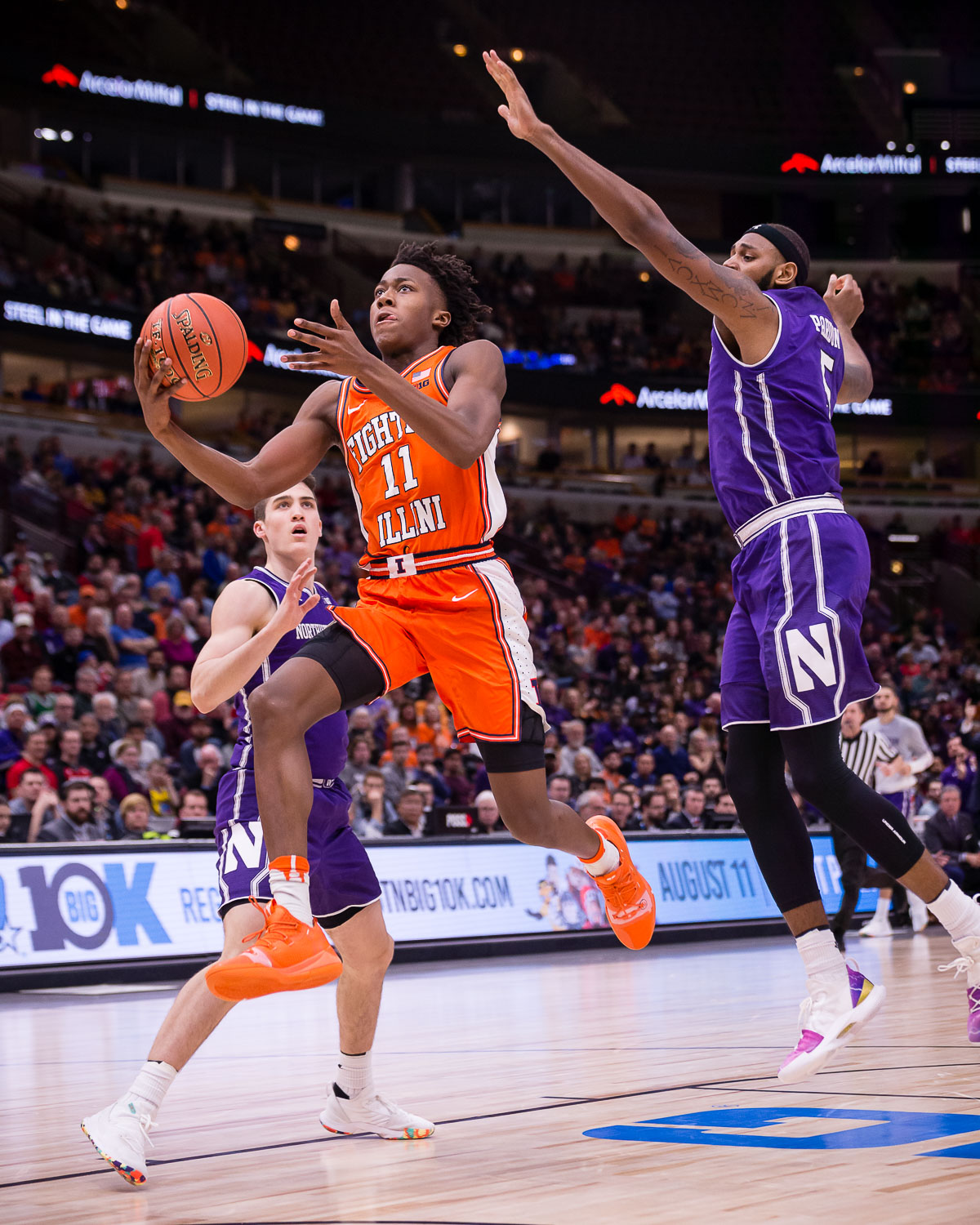 Illinois+guard+Ayo+Dosunmu+goes+up+for+a+layup+during+the+game+against+Northwestern+in+the+first+round+of+the+Big+Ten+Tournament+at+the+United+Center+on+Wednesday.