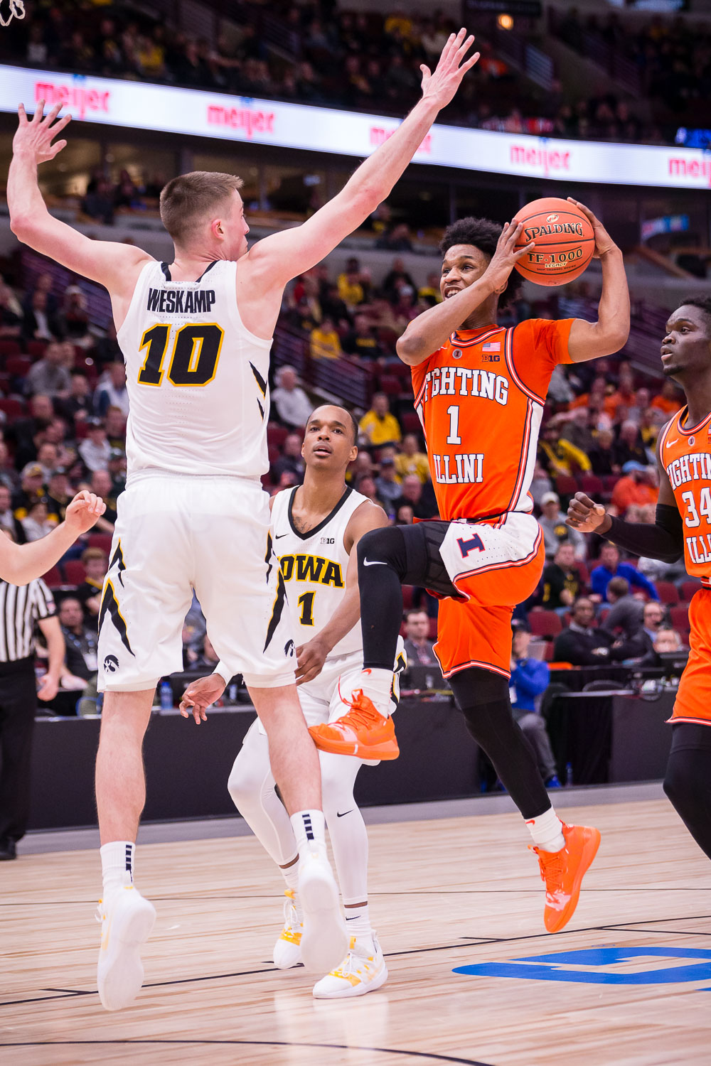 Illinois+guard+Trent+Frazier+%281%29+goes+up+for+a+layup+during+the+game+against+Iowa+in+the+second+round+of+the+Big+Ten+Tournament+at+the+United+Center+on+Thursday%2C+March+14.+The+Illini+lost+83-62.