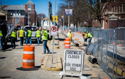 Wright Street construction hinders campus walkways
