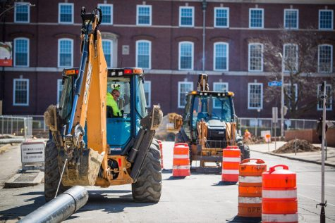 Construction on Wright Street headed to west side