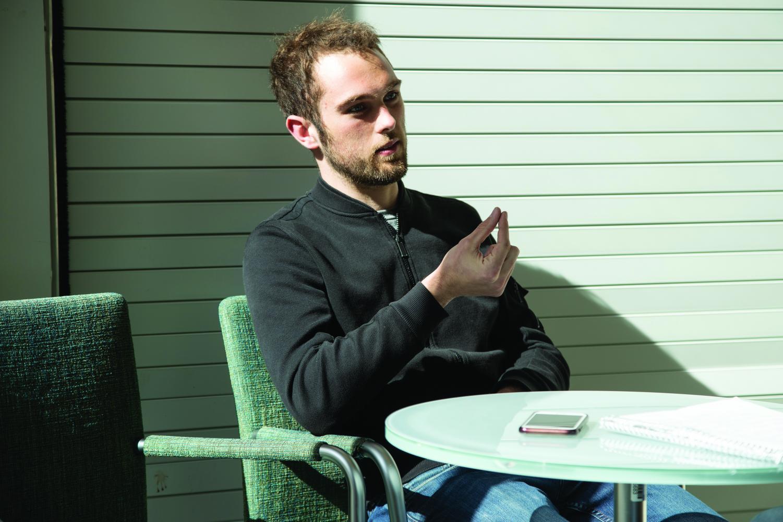 Brandon Yates discusses the purpose of his app.  DeepWalk plans to improve sidewalks by reducing gaps in the walkway.