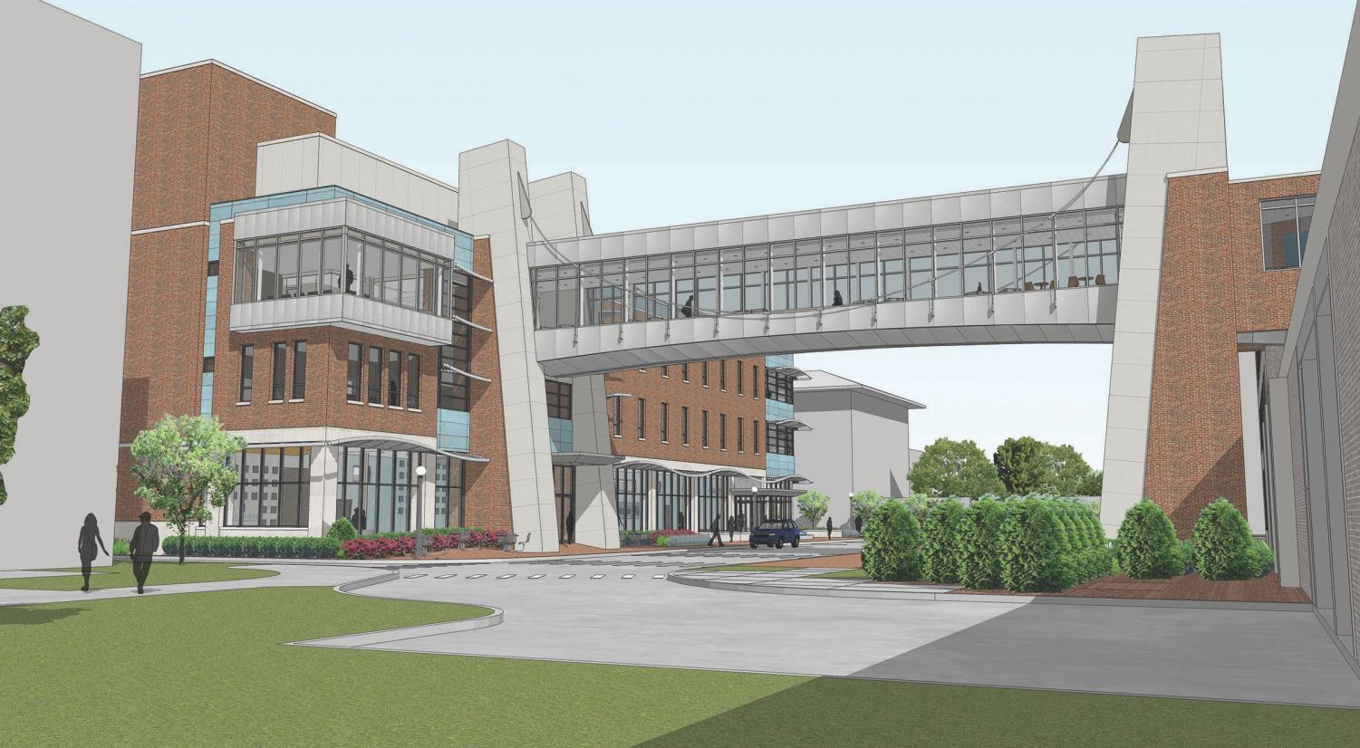 Phase II of the Civil and Environmental Modernization Plan features a new building addition and a smart bridge at the Department of Civil and Environmental Engineering, connecting the Hydrosystems and Newmark Laboratories. Construction is expected to be finished by summer 2020.
