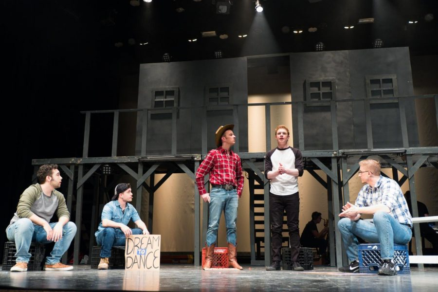 "Students in a variety of majors contributed their talents to the production of ""Footloose."" The show opened Saturday at 7:30 p.m. in the Lincoln Hall Theater."