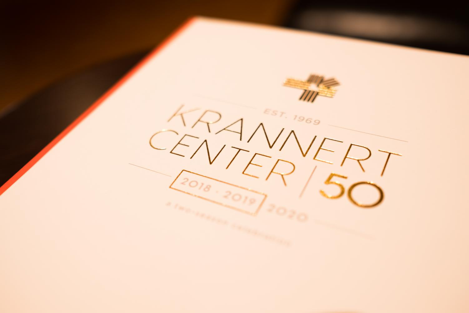 The Krannert Center 50th Anniversary handouts given to attendants in honor of the Krannert Center's 50th season.