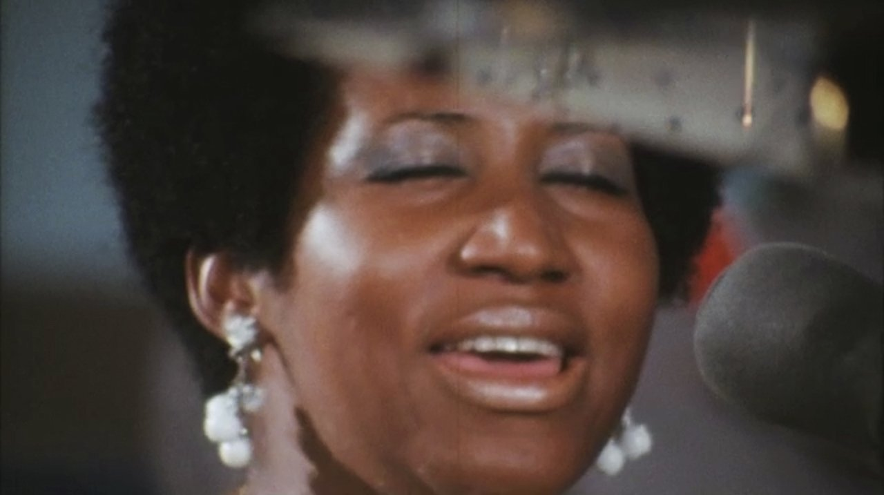 "Aretha Franklin in the film ""Amazing Grace."" The documentary, filmed 47 years ago, covers the live recording of Franklin's"