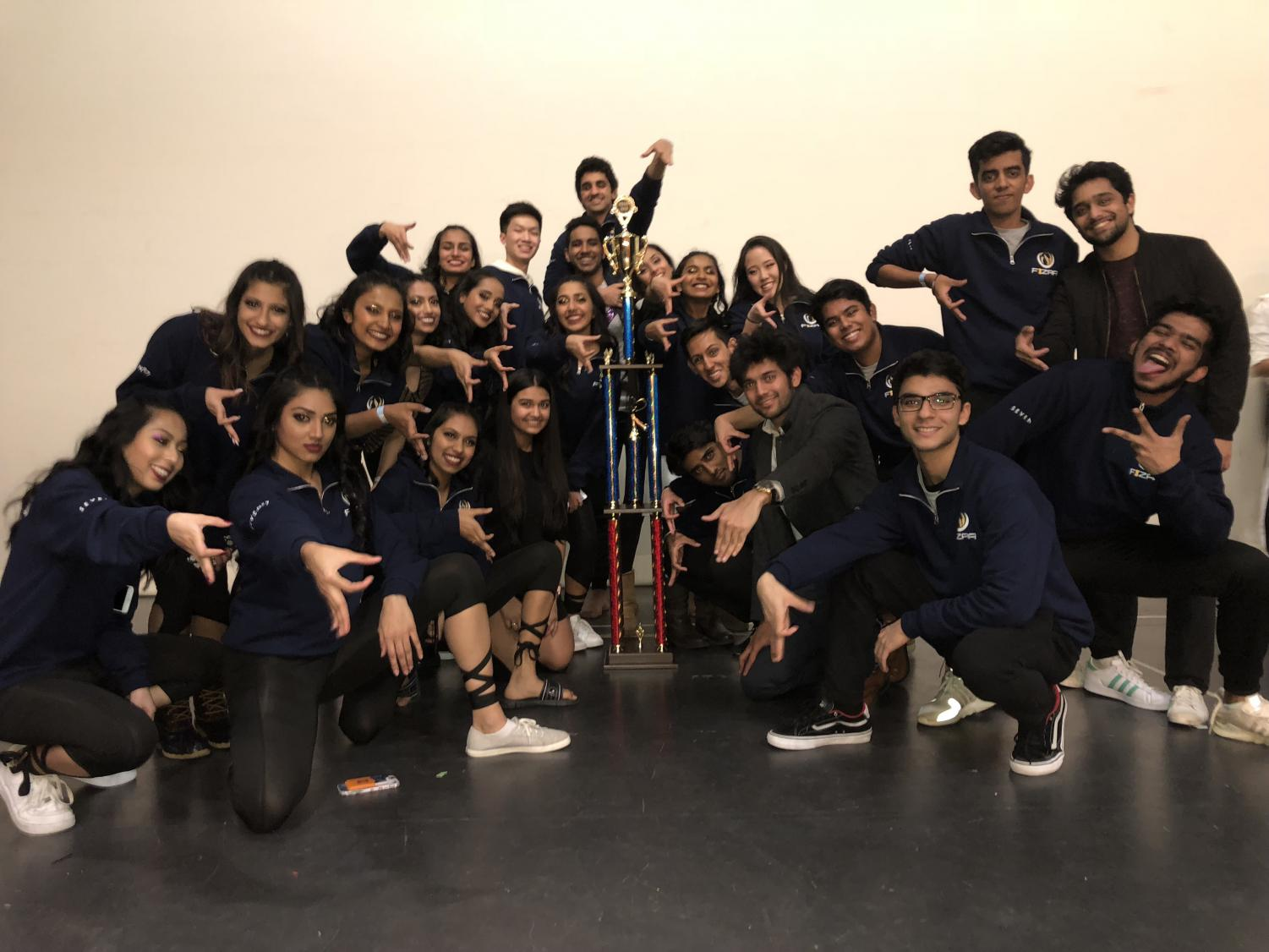 Fizaa celebrates first place win at 2019 NASHA Purdue competition on Jan. 26.