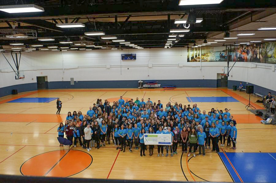 Participants of 2017 National Eating Disorders Association Walk. The walk, hosted by the University Counseling Center in partnership with the NEDA, raises money and awareness for eating disorders.