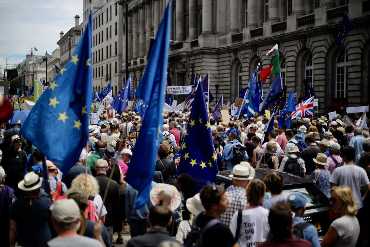 People's vote on Brexit march, London, June 23, 2018.