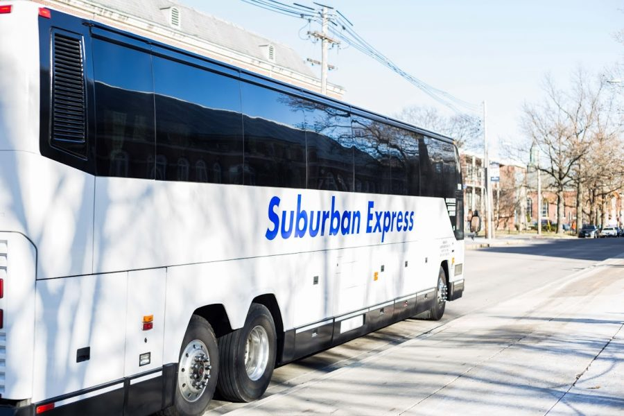 A+Suburban+Express+bus+departing+from+the+Armory+on+Dec.+8%2C+2017.+The+business+will+be+ceasing+all+operations+by+an+estimated+July+31.