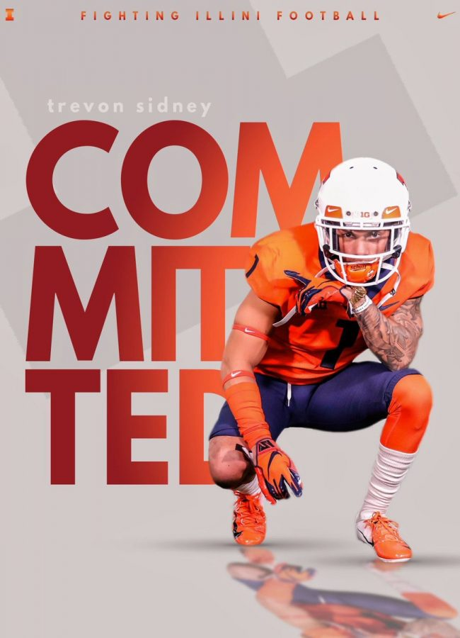 Trevon+Sidney%2C+a+new+commit+to+UIUC+football%2C+posted+his+recruitment+photo+on+his+twitter
