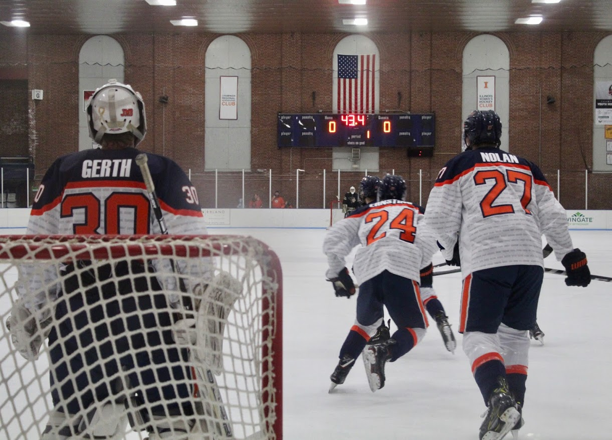 The Illinois vs. Lindenwood game at the Ice Arena on Friday, Jan. 18. Illinois lost 2-1.