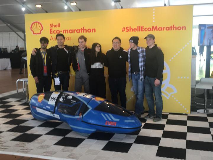 The+Eco+Illini+team+presents+their+electric+vehicle+at+the+Shell+Eco-Marathon+in+Sonoma%2C+California.
