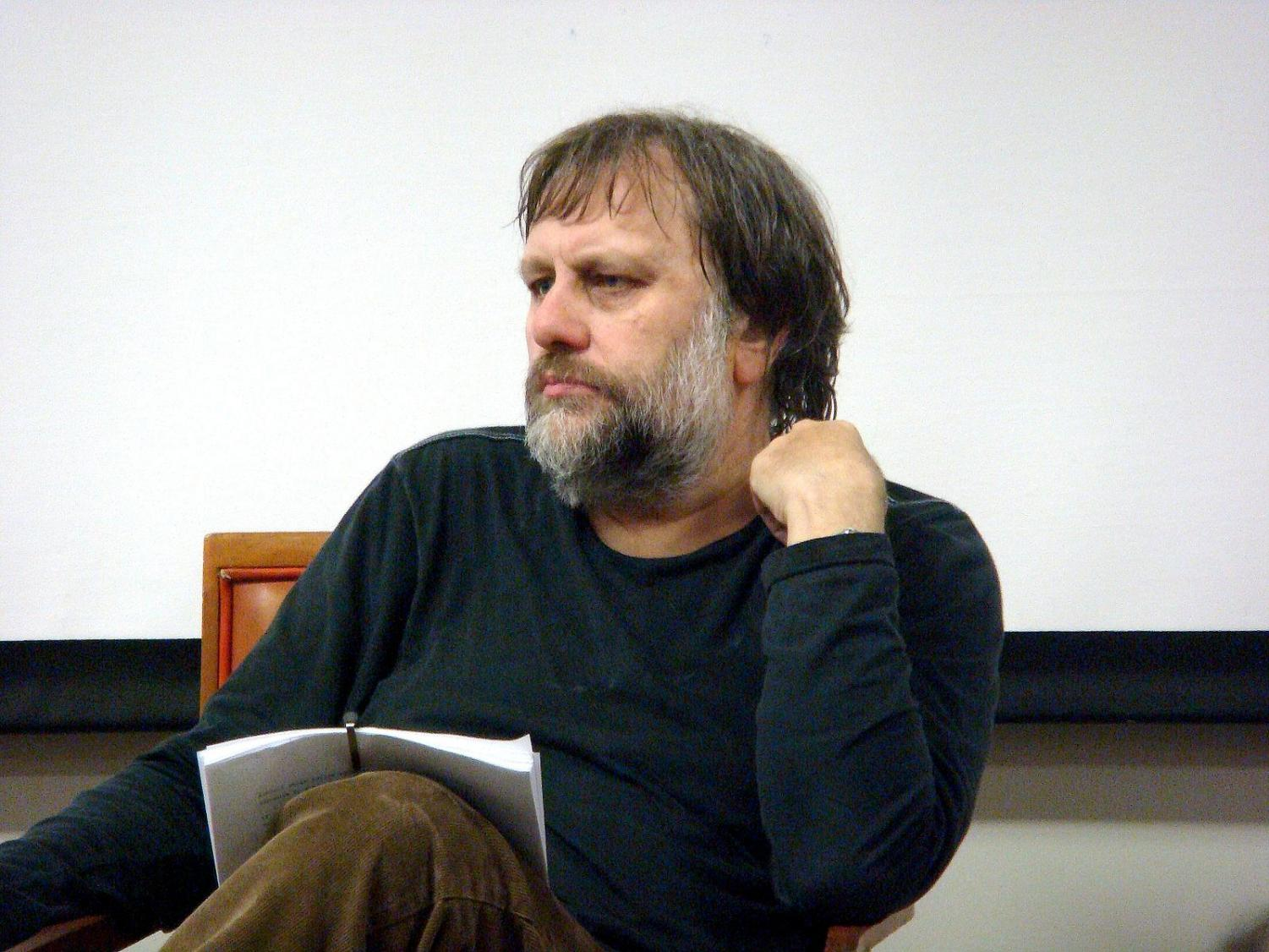 Slovenian philosopher Slavoj Zizek is pictured in Liverpool. Zizek and psychologist Jordan Peterson debated in Canada on April 19 at a sold-out event.