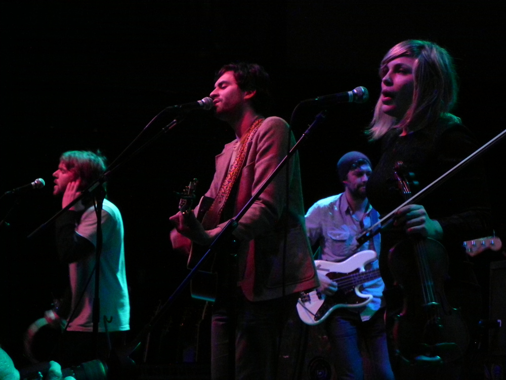 The Head and the Heart opens for Dr. Dog at the 9:30 Club in Washington, D.C. on Jan. 29, 2011.