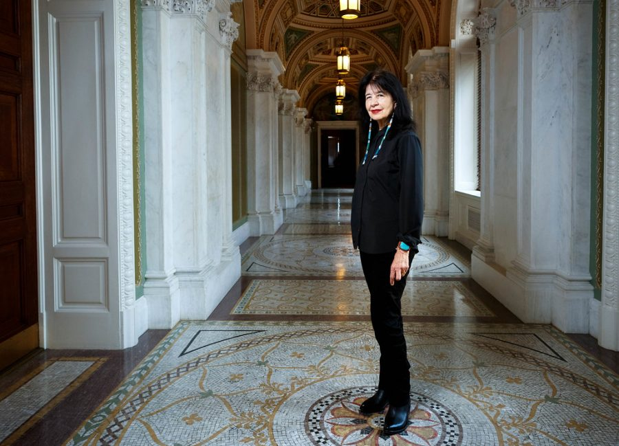 Poet+Laureate+of+the+United+States+Joy+Harjo+is+pictured+on+June+6.+Harjo+is+the+first+Native+American+to+serve+as+poet+laureate+and+is+a+member+of+the+Muscogee+Creek+Nation.
