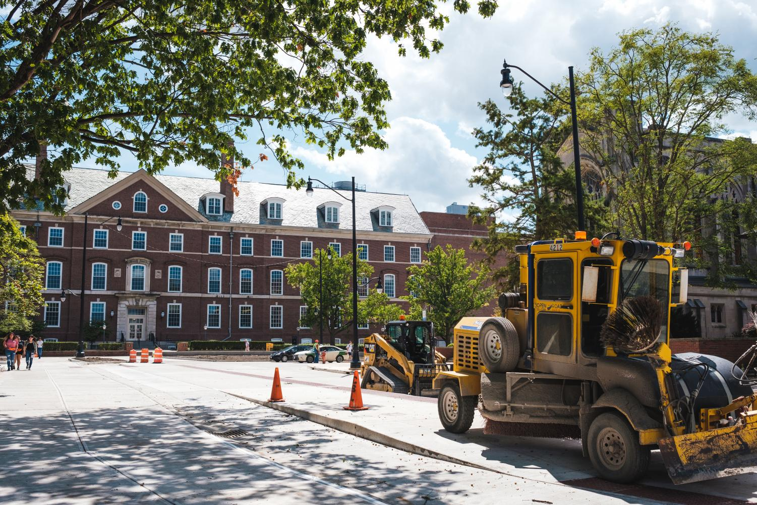Construction continues at the corner of Armory Avenue and Wright Street on Saturday. Work on Wright Street is expected to be done below Green Street by January 2020.