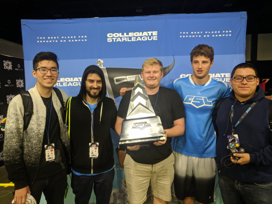 Members of the UIUC Super Smash Brothers Melee team, Louis Kim, Lucas Pena, Nate Kranjic, Blake Ball, and Enrique Carvajal, won the Collegiate Star League tournament at Shine 2019 at Worcester MA over the weekend.
