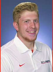 Ethan Tabel, Illinois Football Long Snapper's roster headshot.