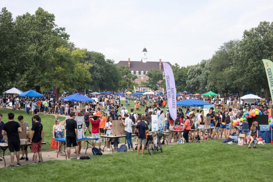 Students and representatives for Registered Student Organizations on Quad Day on Aug. 26. With so much to see, it's important to narrow down your to-do list.