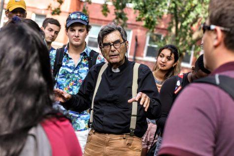 Campus preacher Brother Jed sparks conversation on free speech