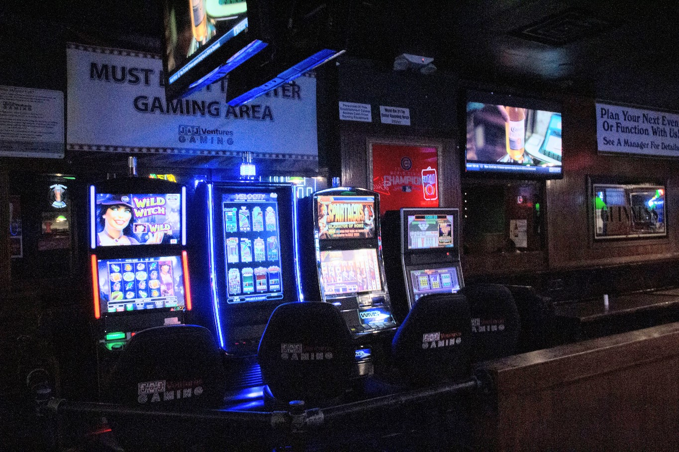 Murphy's Pub's gaming area is located toward the back of the bar. Gambling has been greatly expanded in Illinois following a bill signed by Gov. J.B. Pritzker earlier this year.