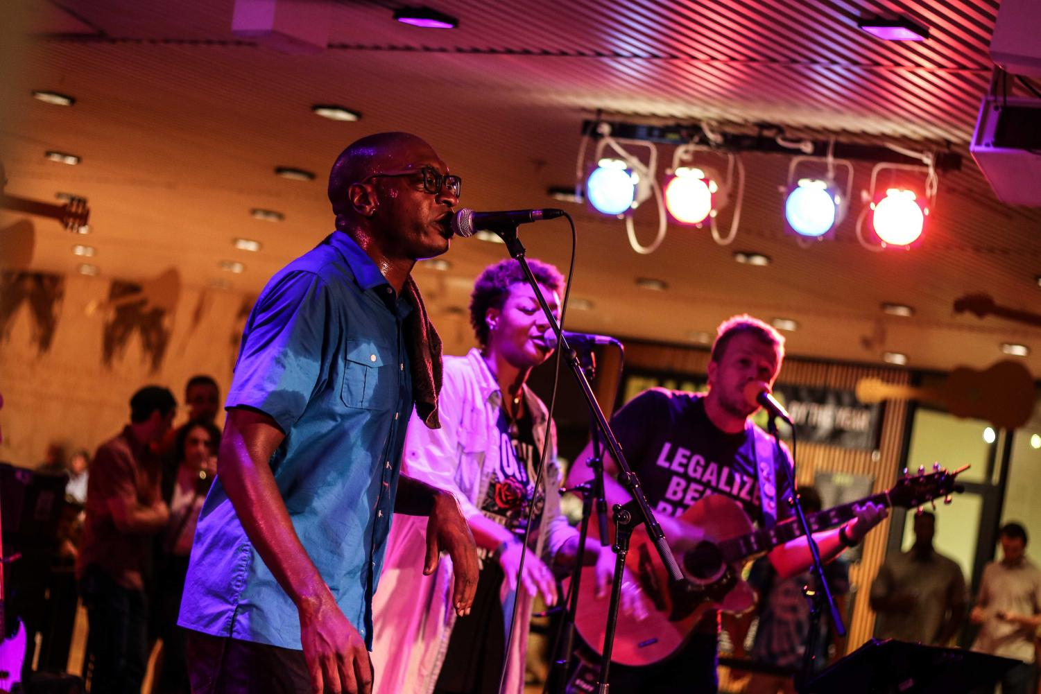 Brandon T. Washington and friends perform at the Krannert Center for the Performing Arts on Saturday. The annual guitar festival hosts a variety of acts which draw crowds from all around the C-U community.