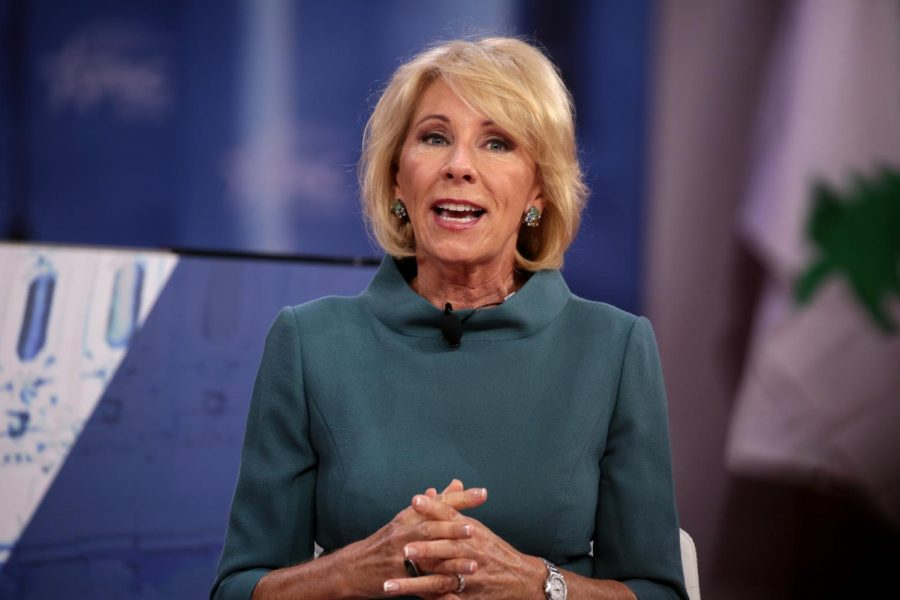 U.S.+Secretary+of+Education+Betsy+DeVos+speaking+at+the+2018+Conservative+Political+Action+Conference+%28CPAC%29+in+National+Harbor%2C+Maryland.+Columnist+Alice+desires+a+world+in+which+teachers+are+respected+as+much+as+surgeons.+