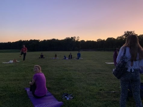 Local instructor teaches full-moon yoga class