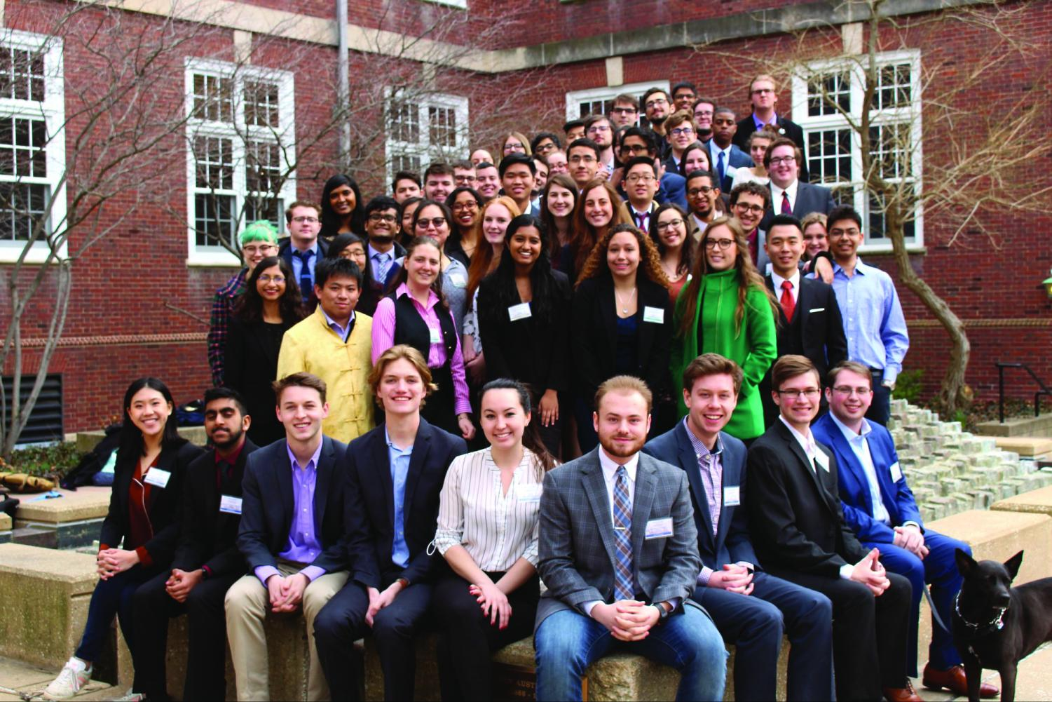 The University Model United Nations team poses for a picture in March 2017. Students involved are tasked with complexities of the political world while attaining real-world benefits.