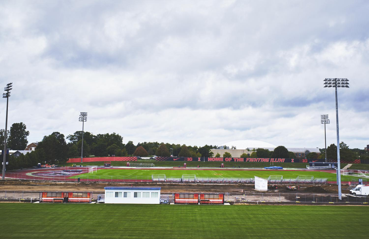 The Soccer and Track Stadium at the University is currently under construction. The Demirjian Park project is scheduled to be completed in 2020, but the fields are scheduled to be completed by Sept. 15 in time for Illinois soccer next home match.