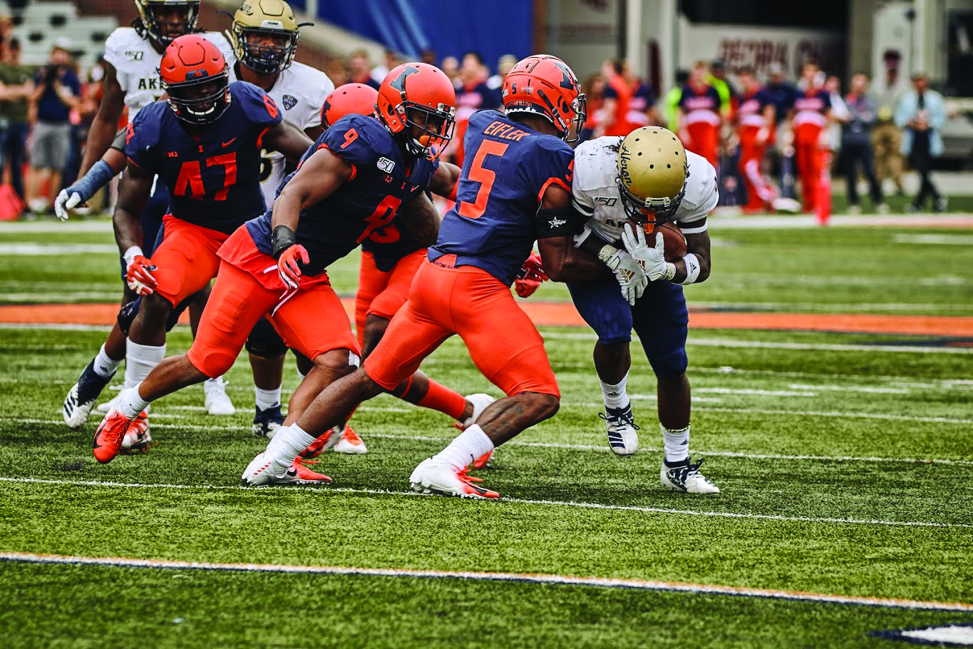 Illinois faces Akron at Memorial Stadium on Saturday. The Illini won 42-3.