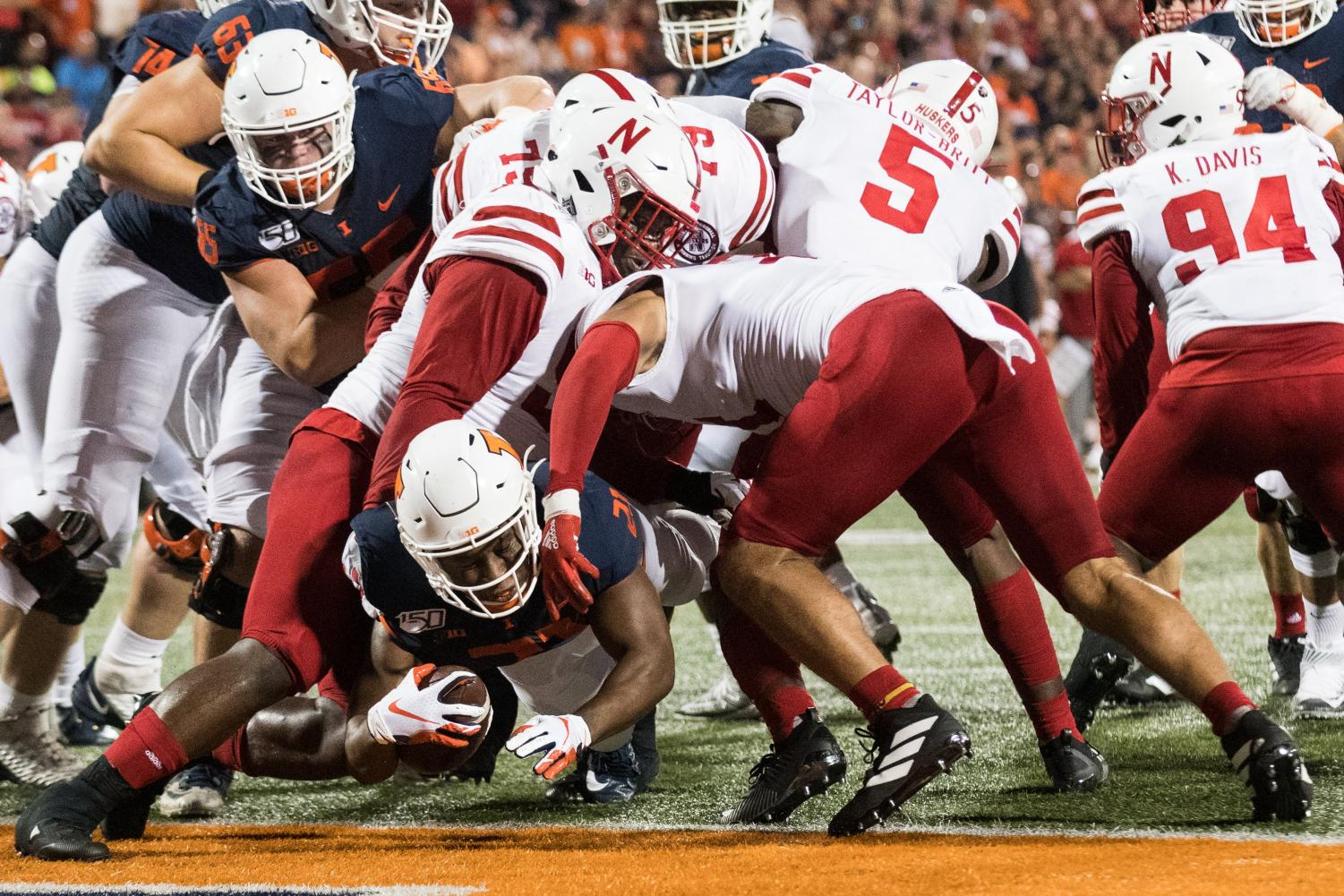 Illini fall to Cornhuskers 42-38