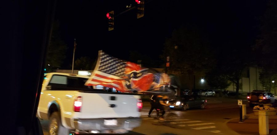 Michael+LeRoy%2C+professor+in+Law%2C+photographed+a+pickup+truck+with+a+Confederate+flag+attached.+Several+reports+to+police+were+made+Wednesday+night+on+the+driver+shouting+racial+slurs.